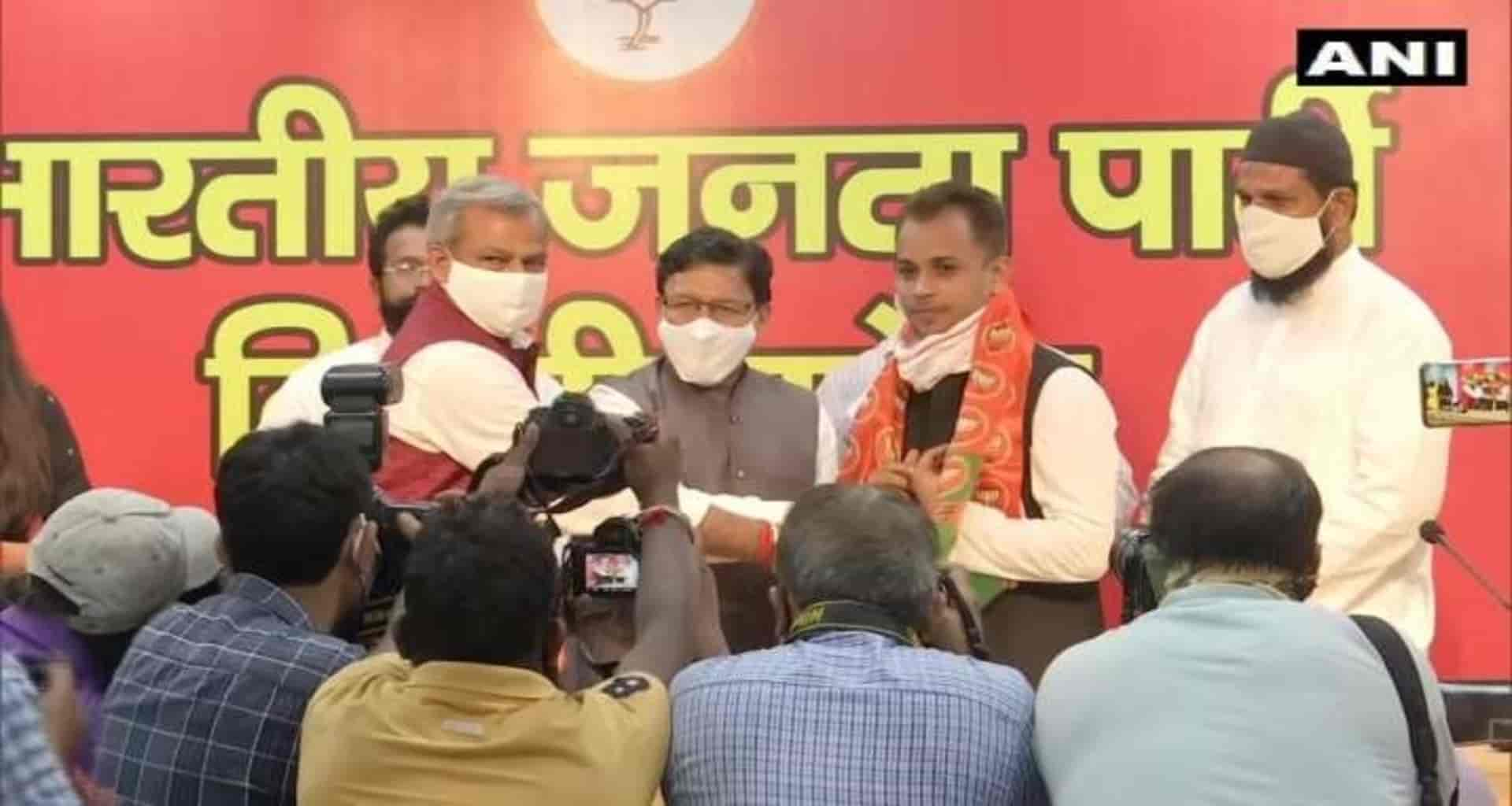 Shahzad Ali, who opposed the CAA in Shaheen Bagh, joined the BJP