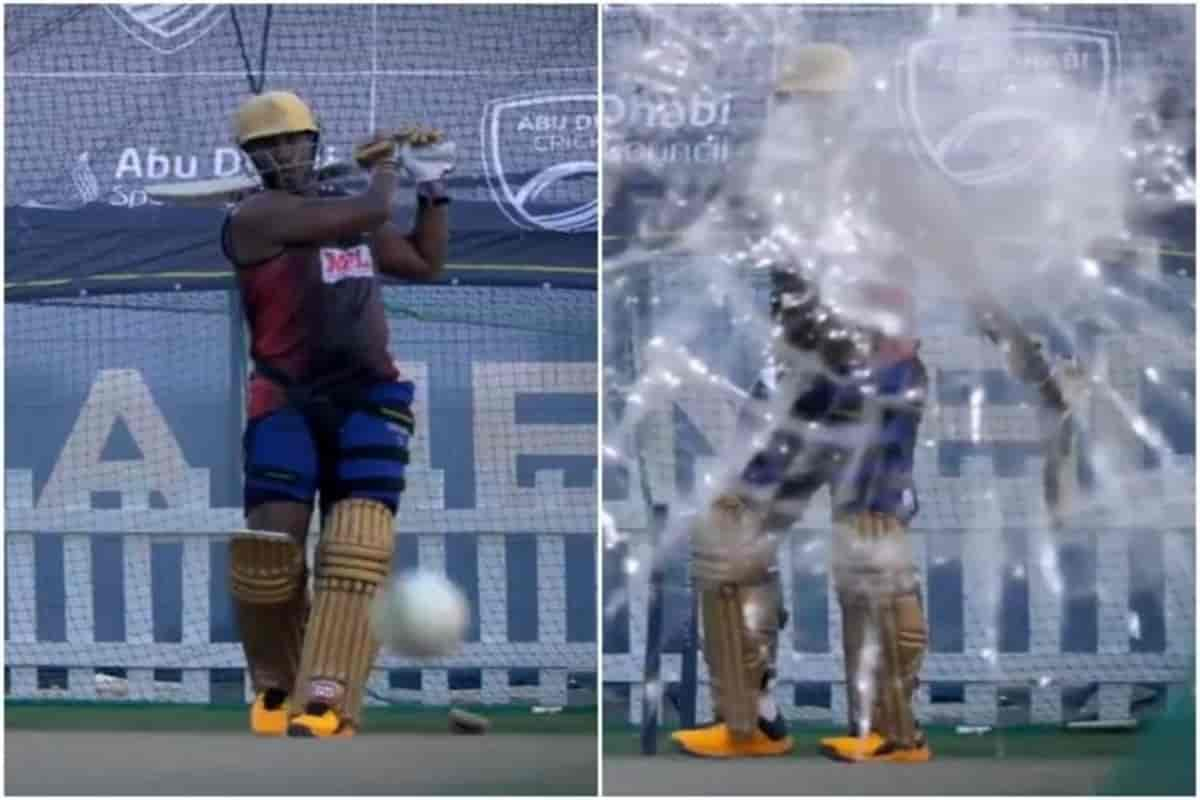 IPL 2020: Andre Russell has shatter glass in nets before the match