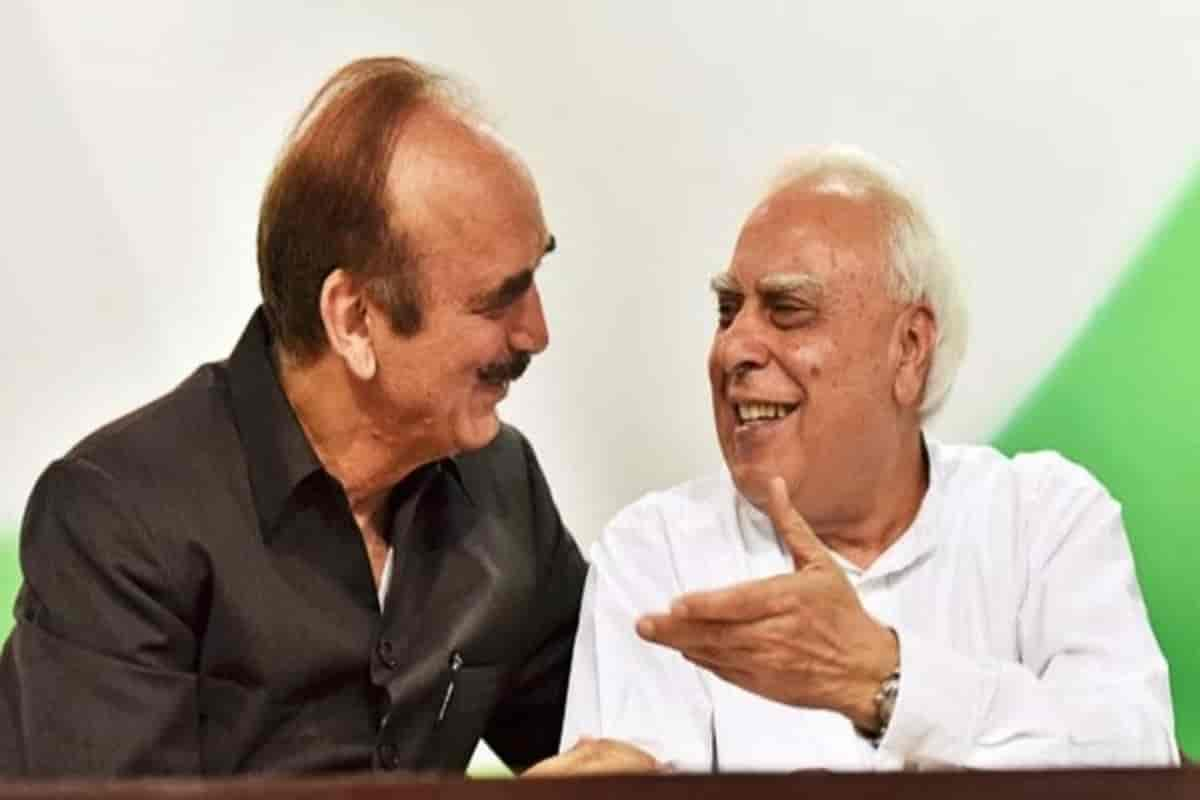 The Position of Ghulam Nabi Azad and Kapil Sibal was reduced in the Congress