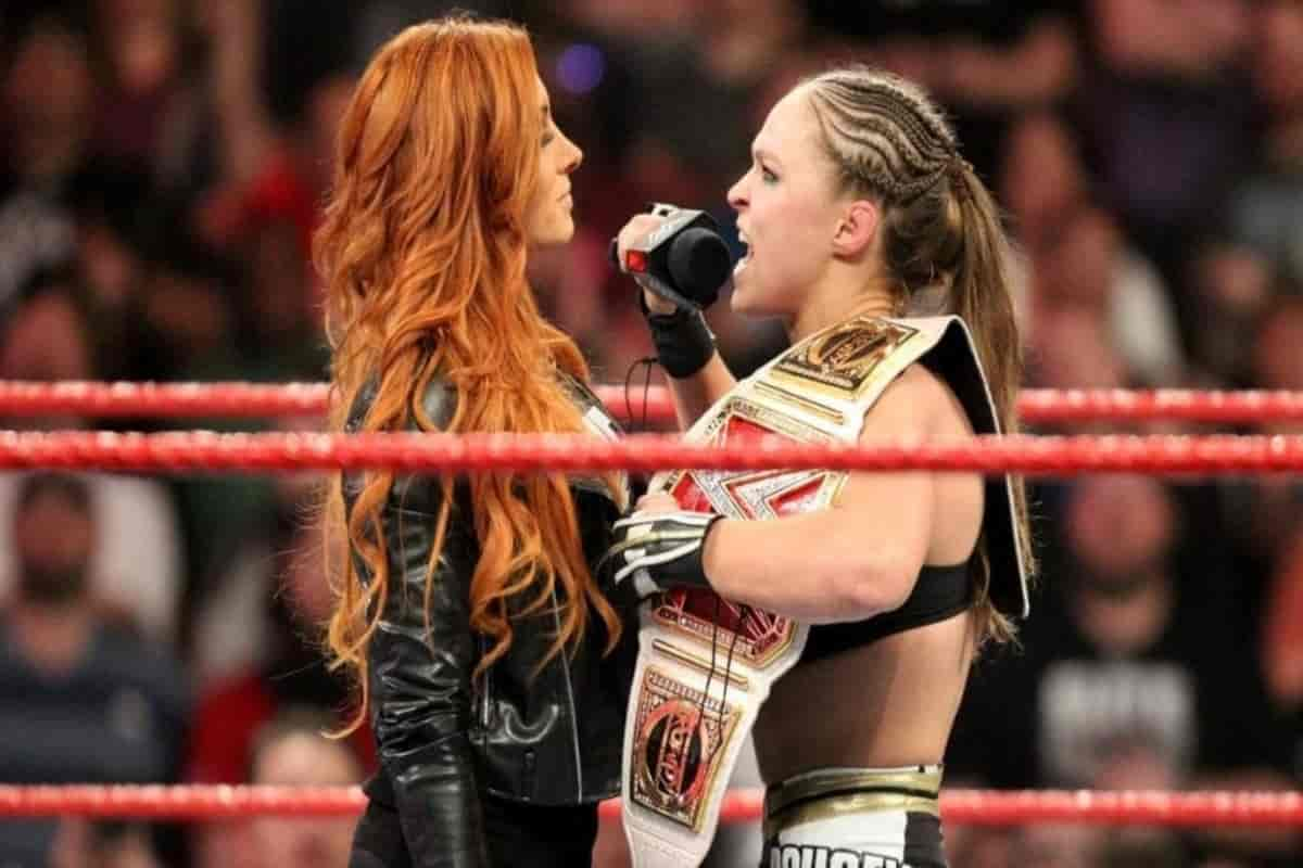 Ronda Rousey takes a major shot between Becky Lynch and Seth Rollins