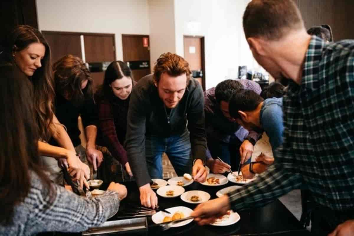 Top Australian chef Neil Perry serves up Vow kangaroo dumplings, alpaca tarama and five other dishes grown from cells in world-first culinary demonstration