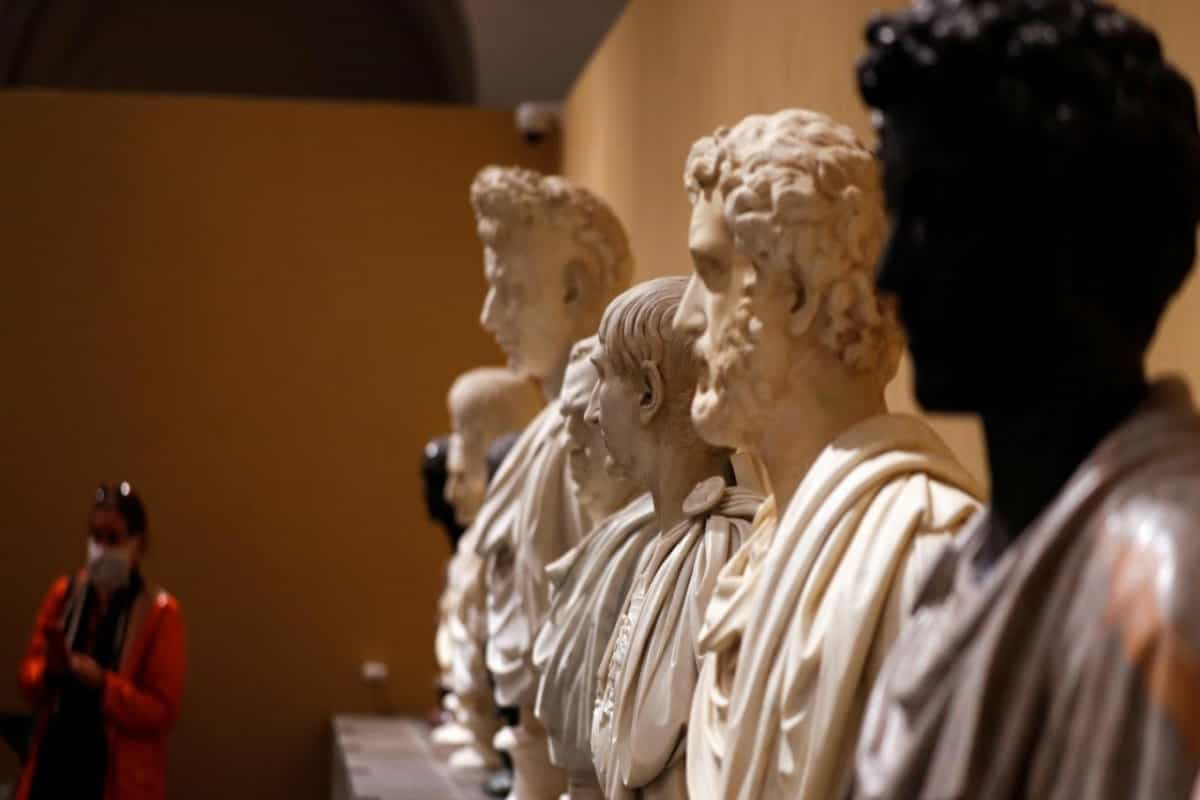 Ancient statues return to public view in Rome after decades in basement