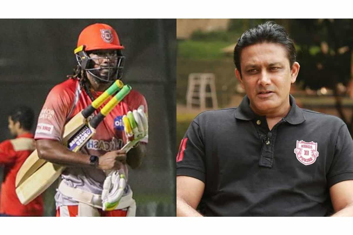 Mr Famous Batsman Gayle was going to play today's match but he had food poisoning Said Anil Kumble