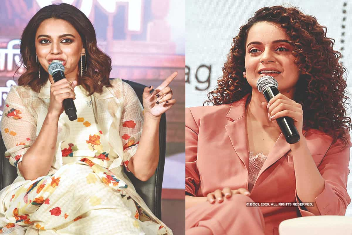 Swara Bhasker takes an indirect dig at Kangana Ranaut's Padma Shri statement after AIIMS rules out murder in Sushant Singh Rajput's case