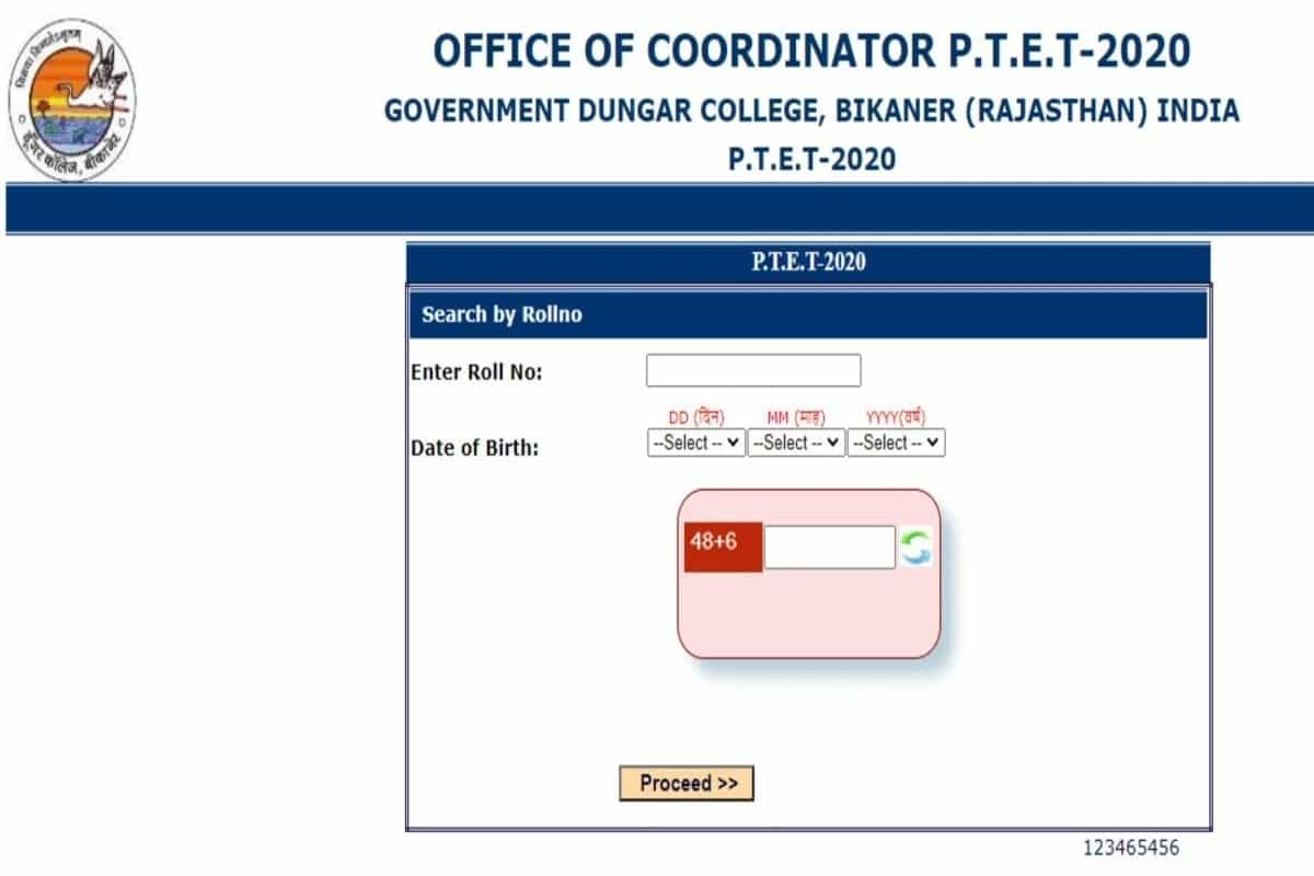 Rajasthan PTET result 2020 for 2-year B.Ed Course announced