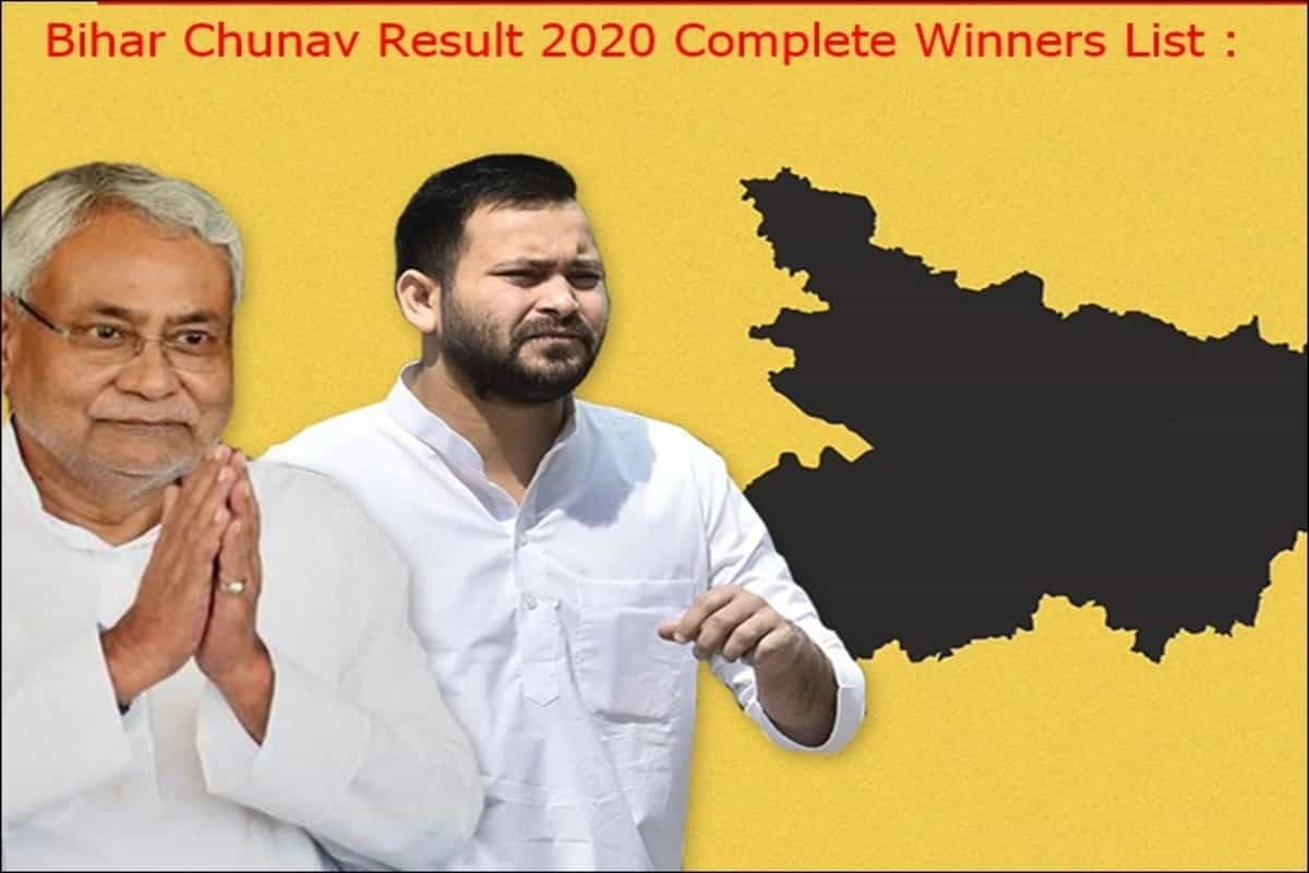 Bihar election result 2020: Seat wise full list of winners