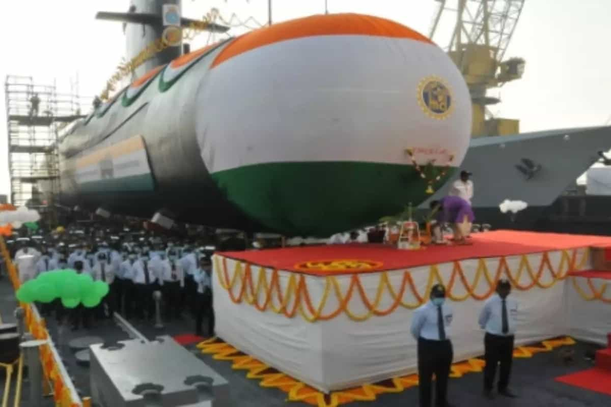 Navy's fifth Scorpene-class submarine Vagir launched