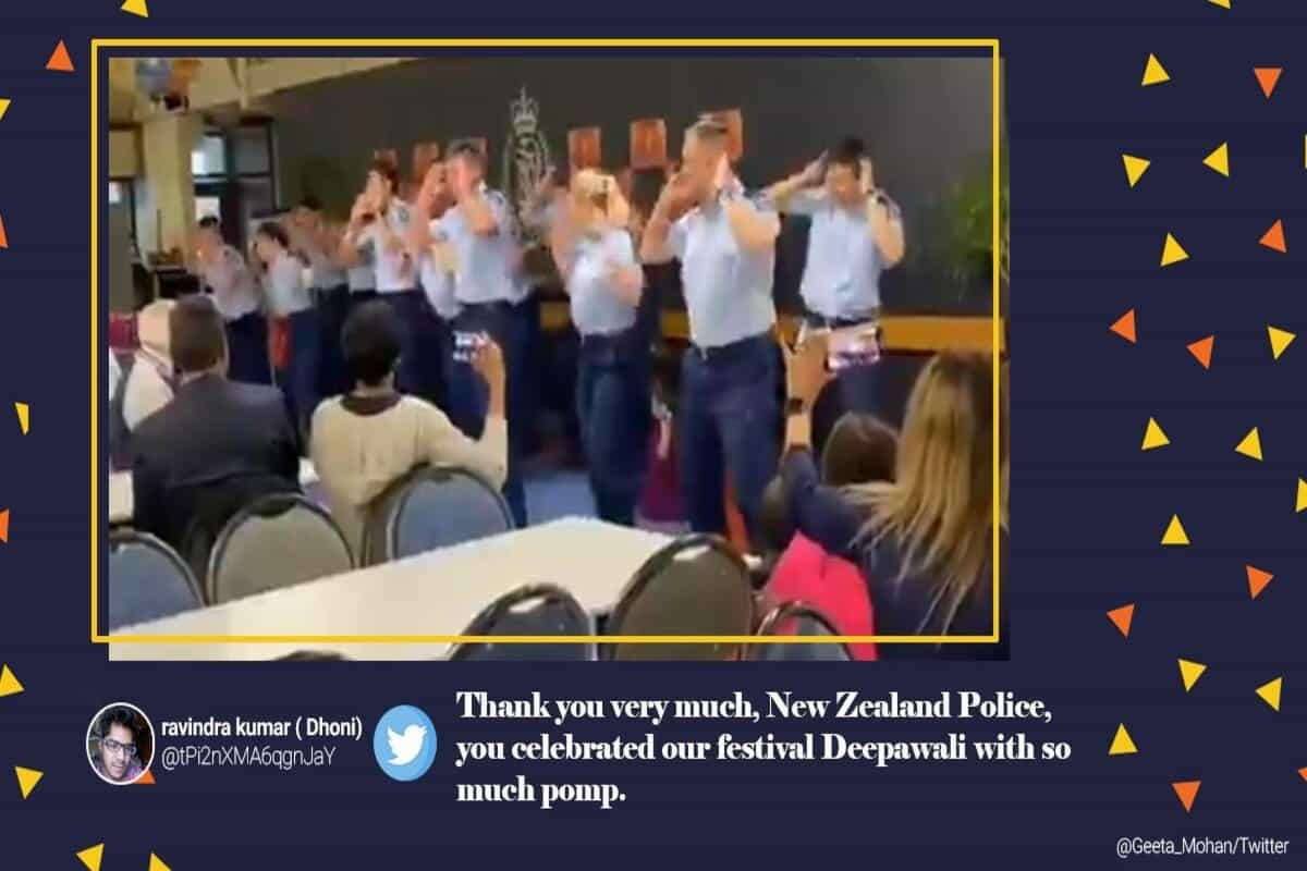 Video of New Zealand police officers dancing to Bollywood songs for Diwali gets praise