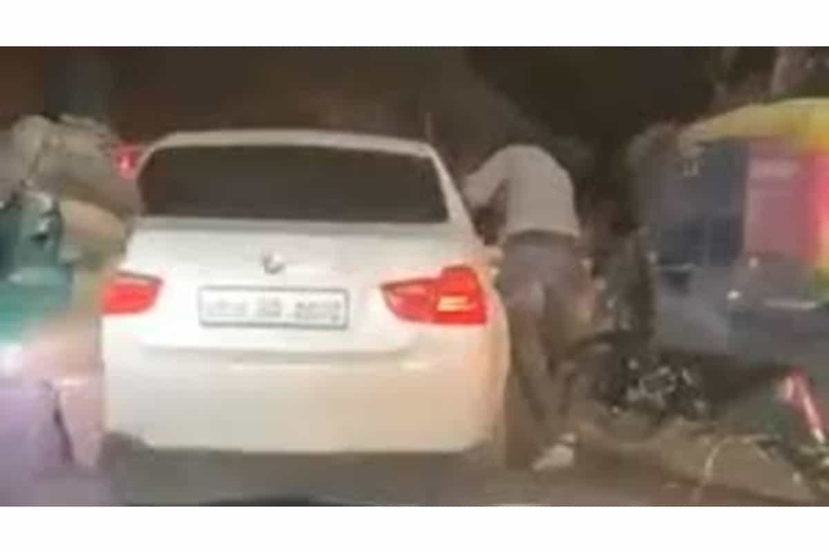 Ghaziabad: BMW occupant fires at bike rider, video goes viral