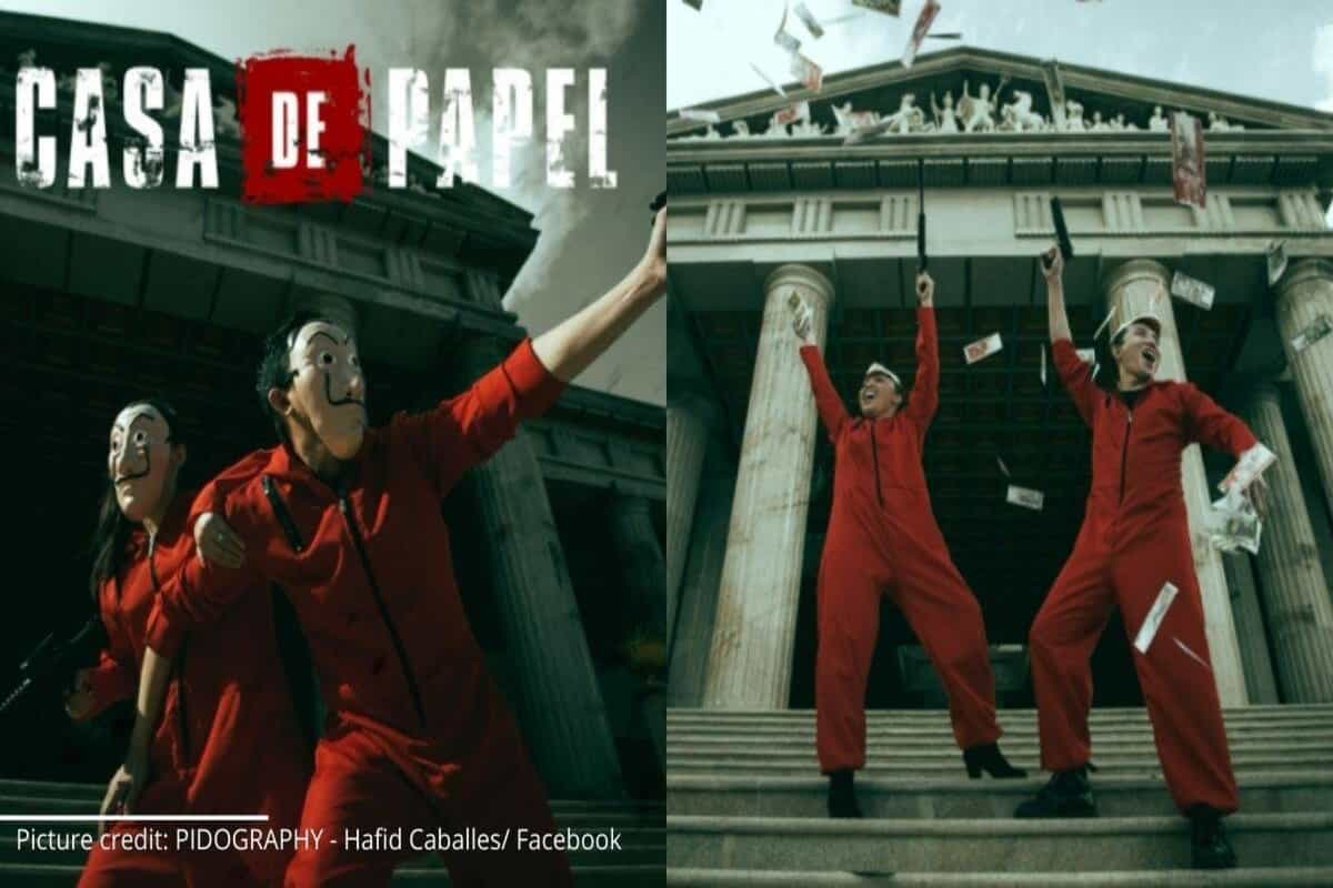 Couple comes up with Money Heist-themed pre-wedding photoshoot