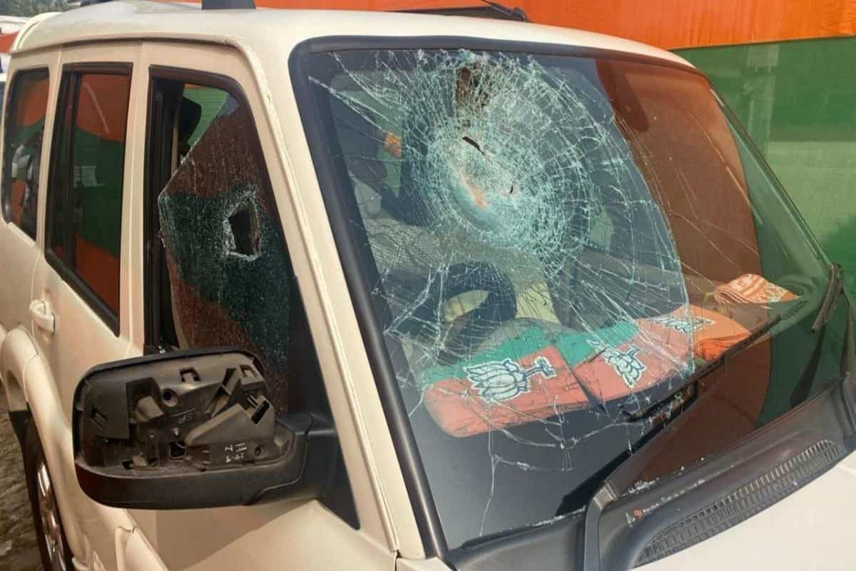 BJP chief JP Nadda's convoy attacked in Bengal: stones hurled, cars damaged