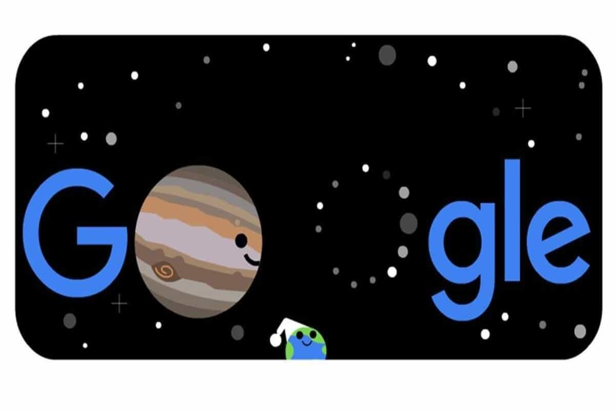 Google Doodle celebrates 'the great conjunction' of Jupiter and Saturn