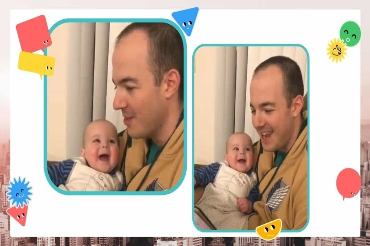 Viral video: Toddler's reaction to father reading book in different voices wins hearts online