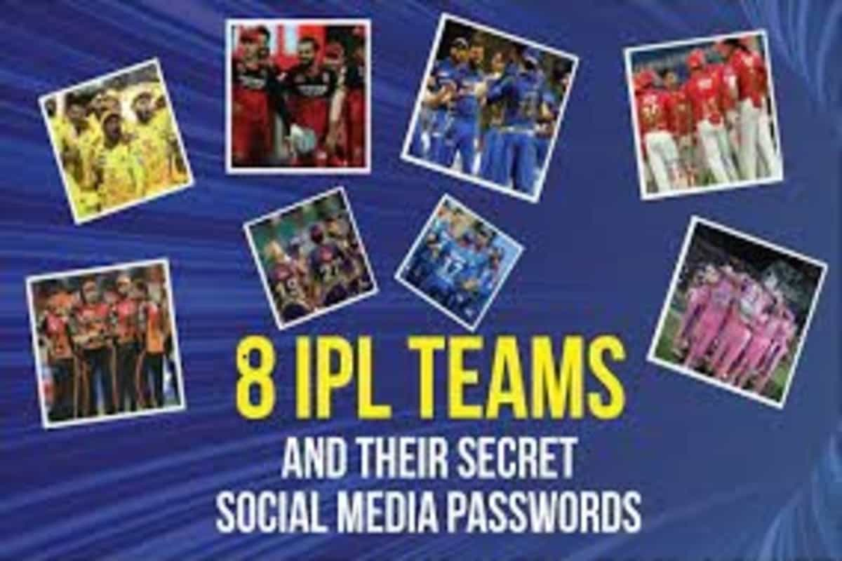 All IPL franchises and their secret social media passwords