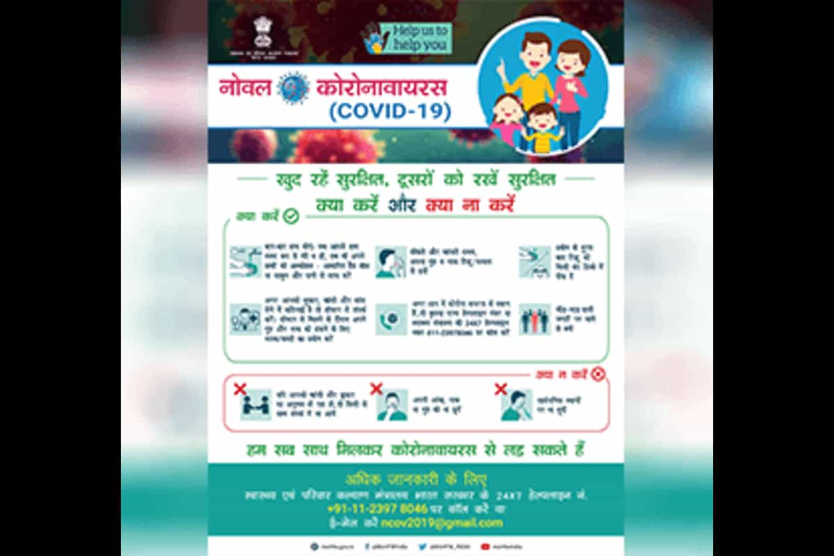 Covid-19 helpline numbers. Check here