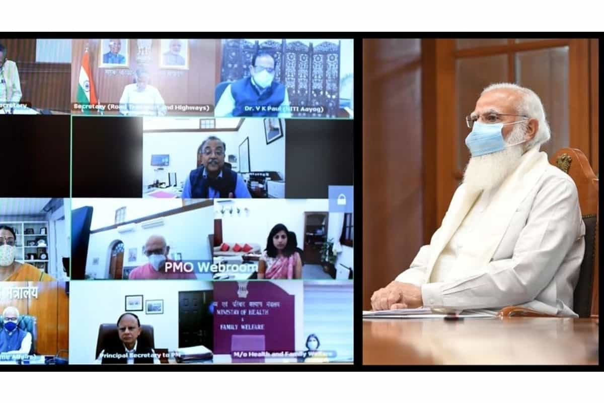 """BREAKING NEWS : PM Modi chairs high-level Covid review meet, tells officials to """"ensure rapid upgradation of health infrastructure"""""""