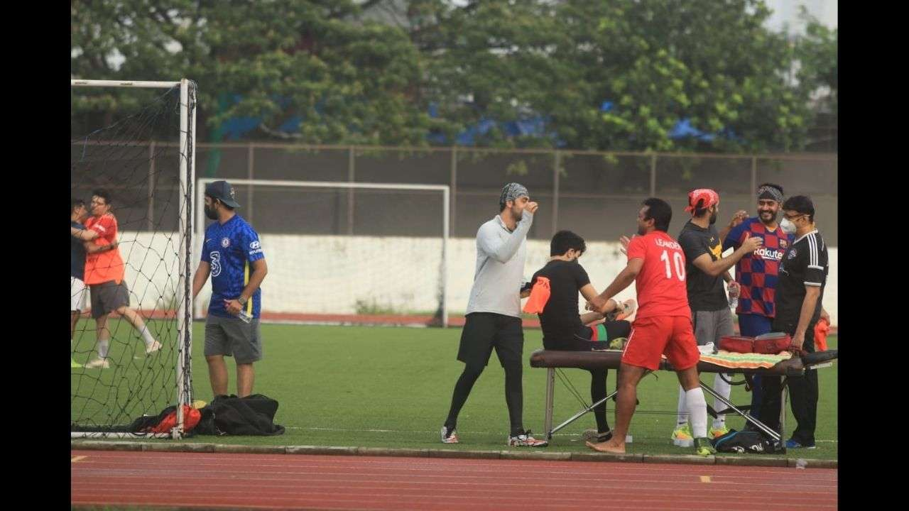 Leander Paes Football match Video