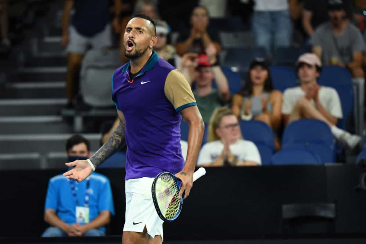 Nick Kyrgios pulls out of Wimbledon build-up event due to neck pain