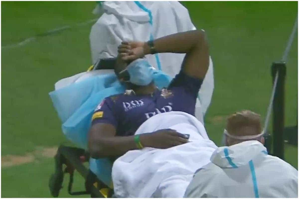 Russell stretchered off in PSL match, taken to hospital in ambulance – WATCH